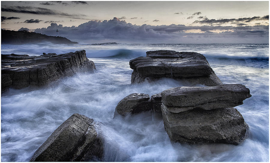 Central Coast Photograph - Turmoil by Steve Caldwell