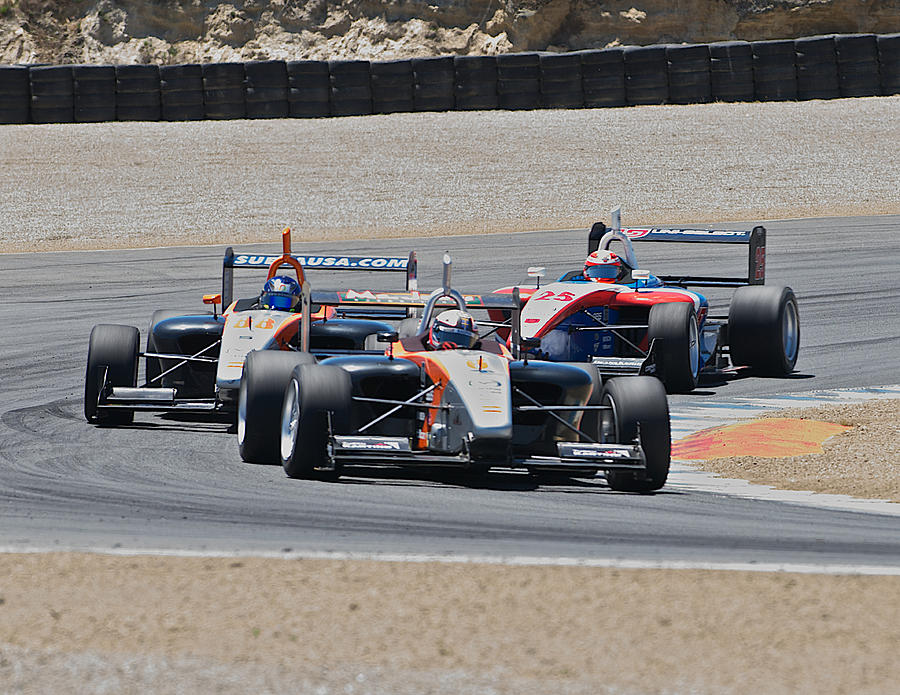 Auto Photograph - Turn 2 Traffic by Dave Koontz