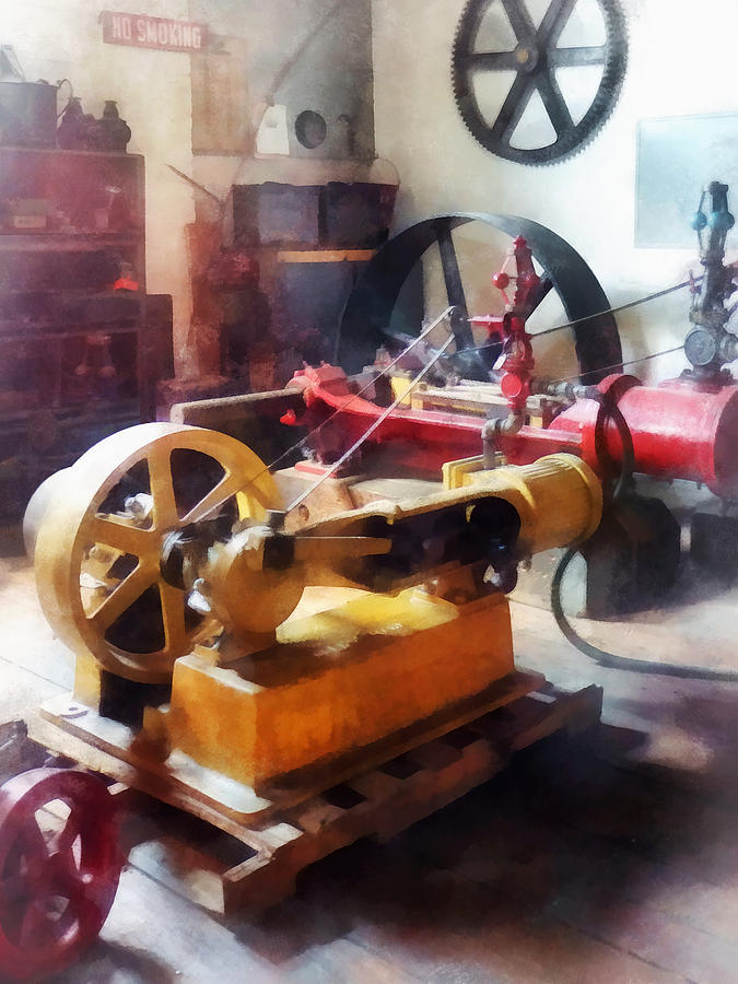 Steampunk Photograph - Turn Of The Century Machine Shop by Susan Savad