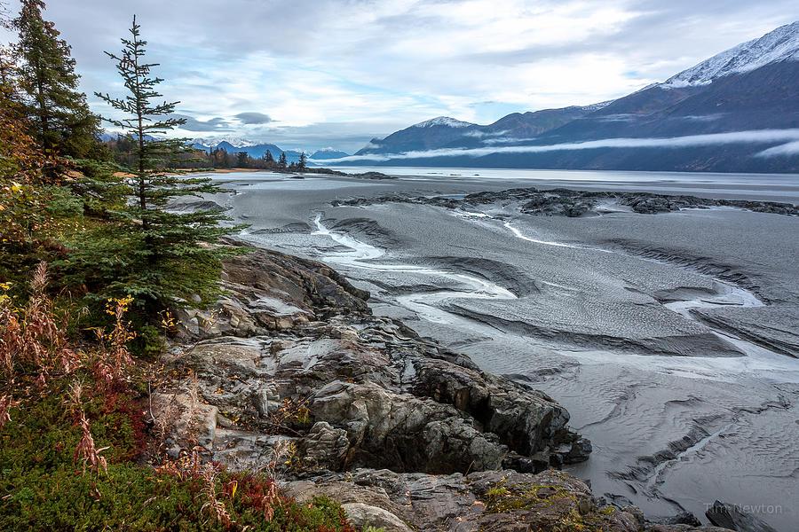 Alaska Photograph - Turnagain Tide Flats by Tim Newton