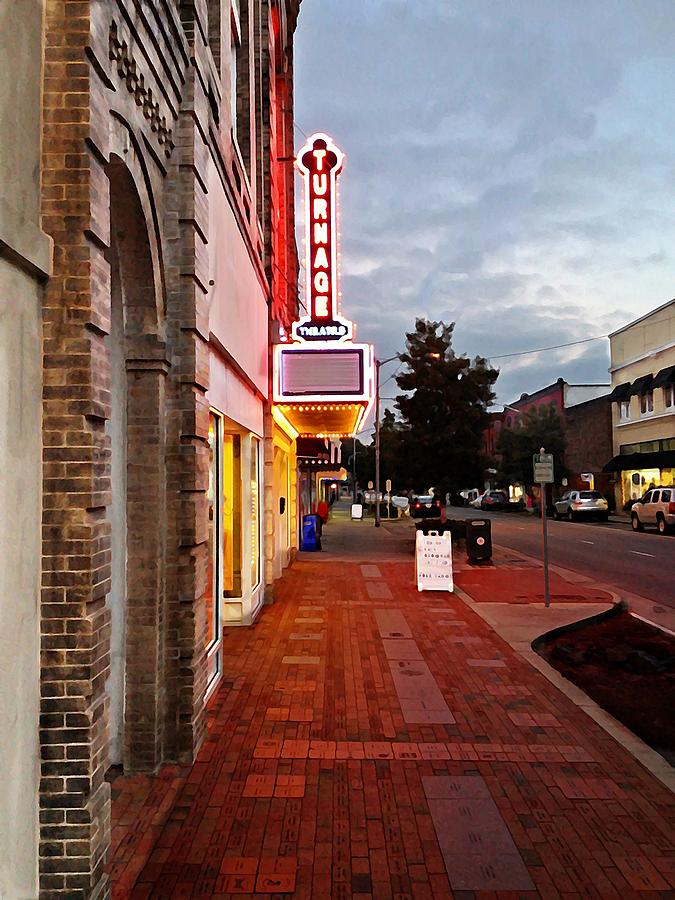 Washington Photograph - Turnage Theater Grand Opening by Joan Meyland