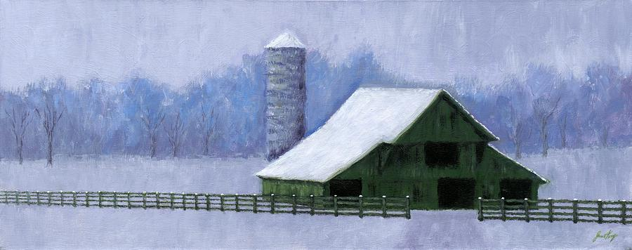 Barn Painting - Turner Barn In Brentwood by Janet King
