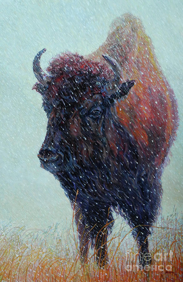 Bison Painting - Turner by Patricia A Griffin