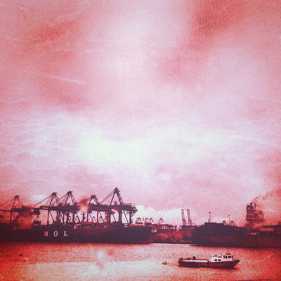 Singapore Port Photograph - Turner Weather by Yen