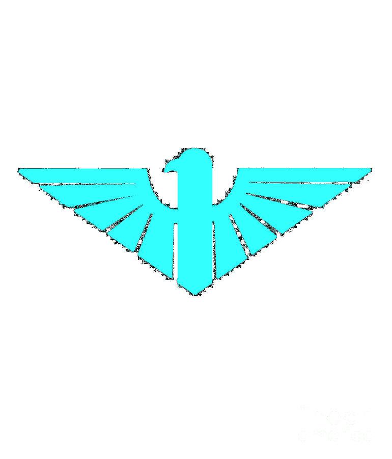 Turqoise Digital Art - Turqoise Thunderbird 2 by Frederick Holiday