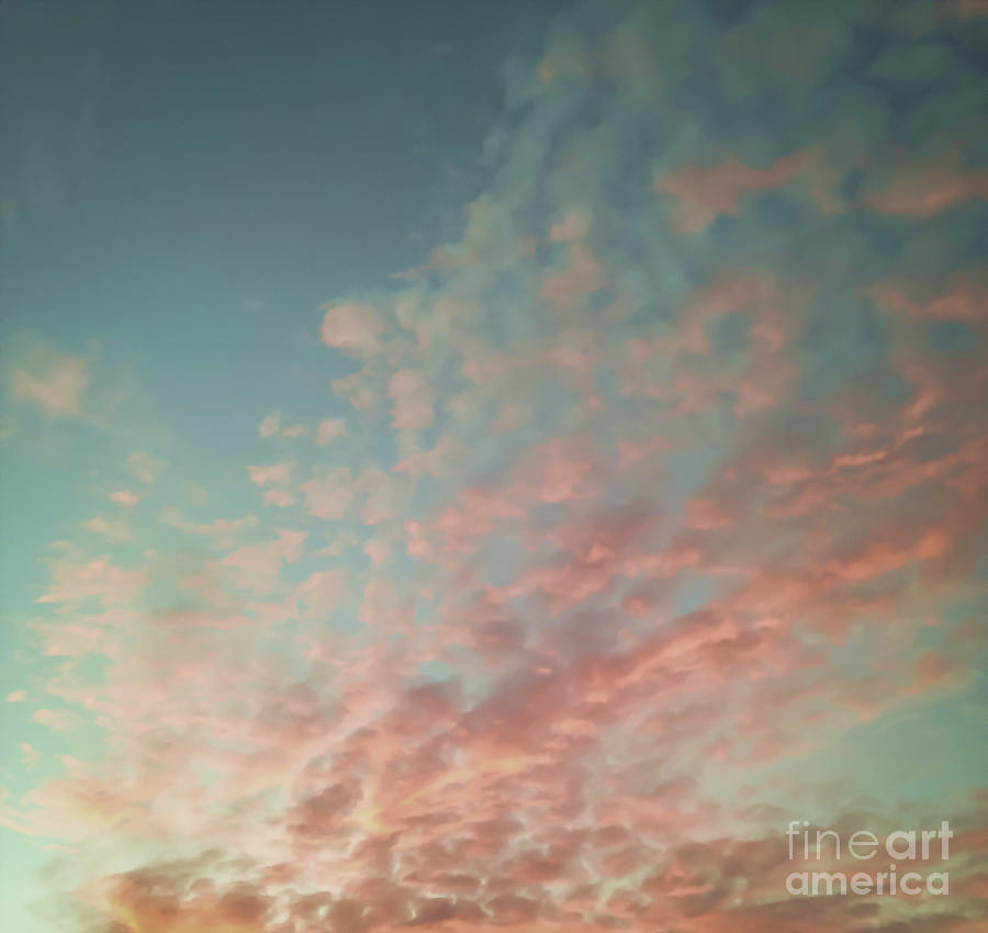 Black & White Photograph - Turquoise And Peach Skies by Holly Martin