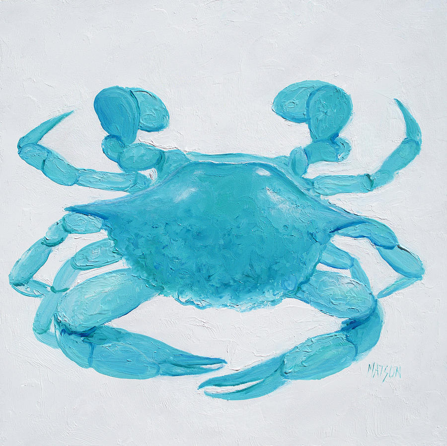 turquoise crab painting by jan matson