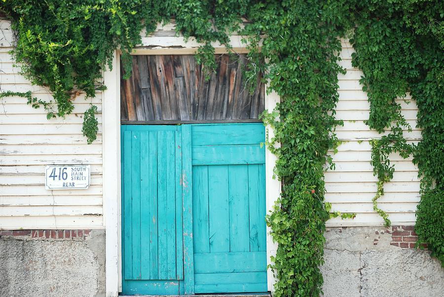 Turquoise Door Photograph - Turquoise Door by Pamela Schreckengost