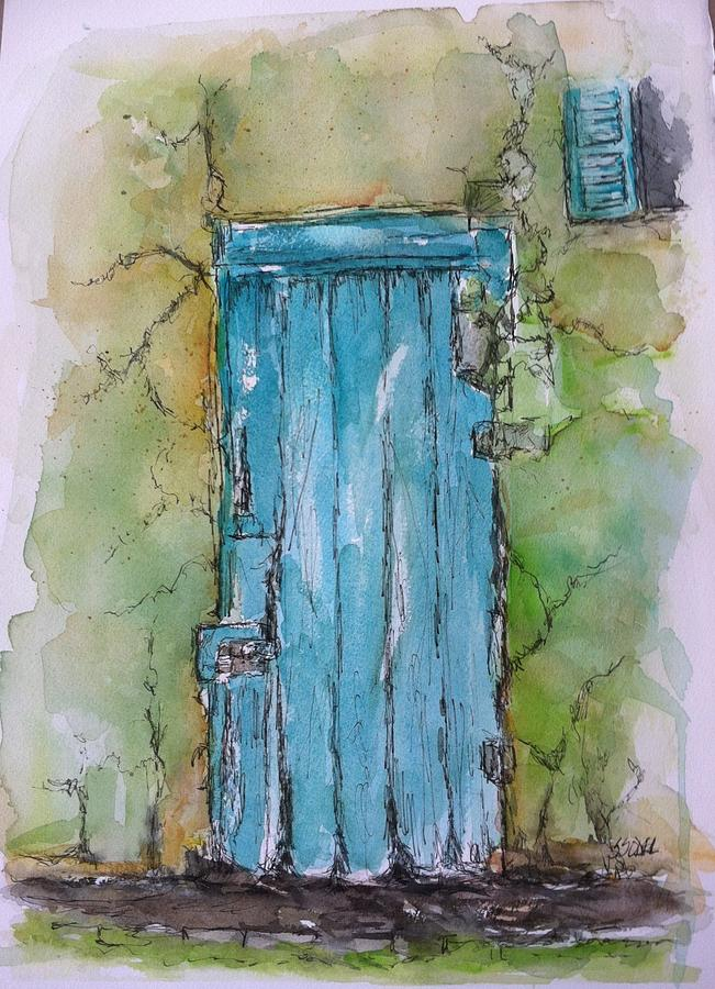 Architecture Painting - Turquoise Door by Stephanie Sodel