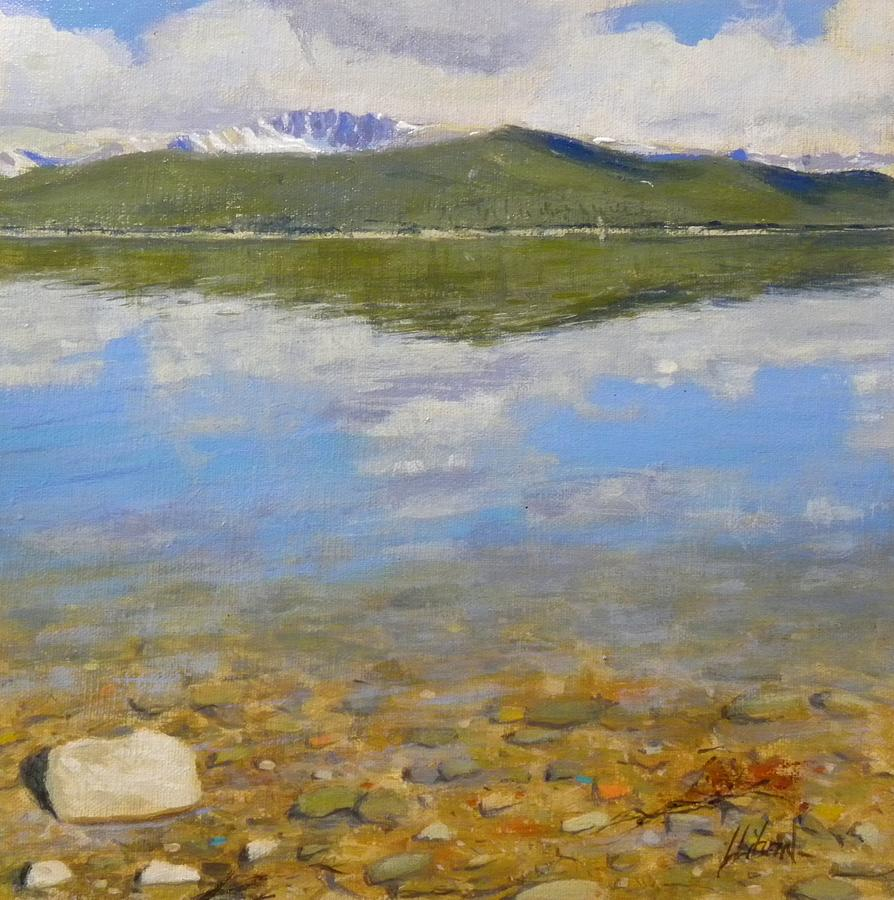 Rocky Mountains Painting - Turquoise Lake by Greg Clibon
