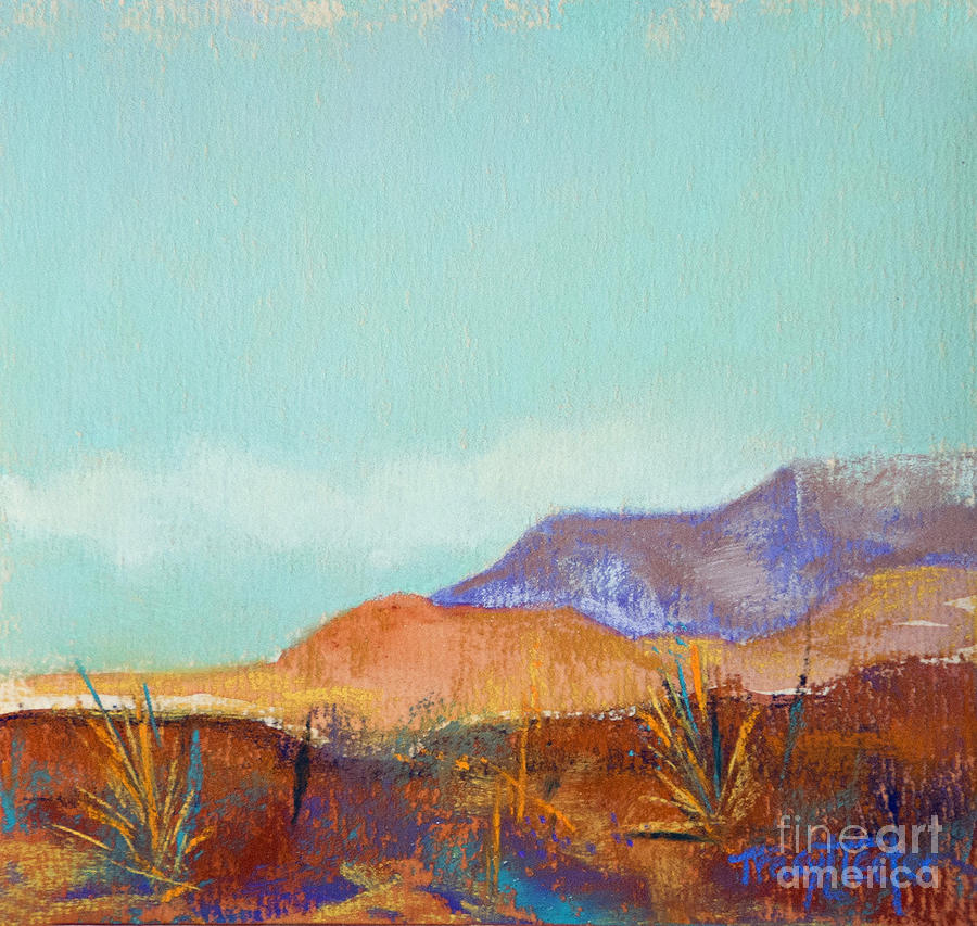 Pastel Pastel - Turquoise Mountains by Tracy L Teeter