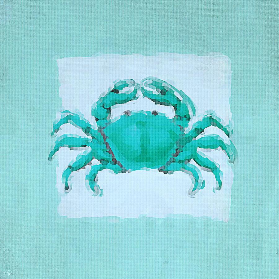 Seashell Painting - Turquoise Seashells I by Lourry Legarde