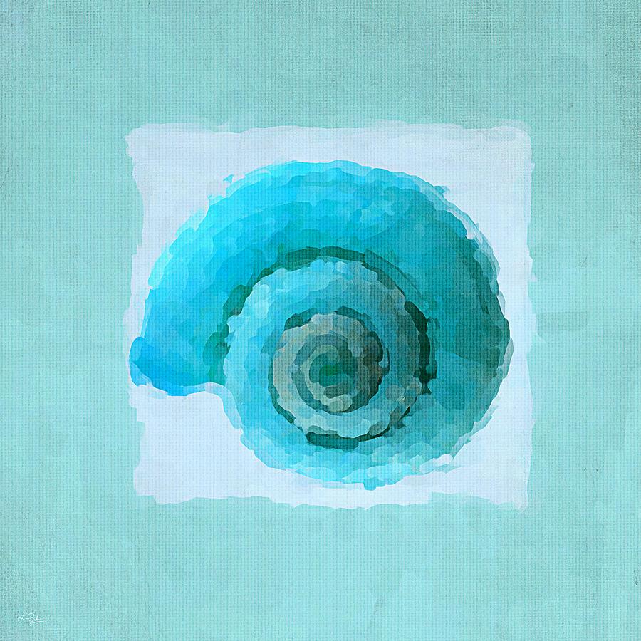 Seashell Painting - Turquoise Seashells IIi by Lourry Legarde