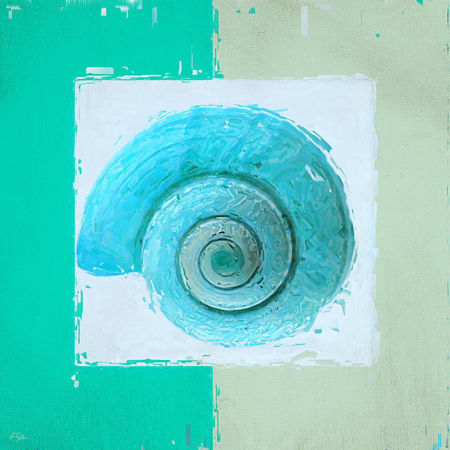 Seashell Painting - Turquoise Seashells X by Lourry Legarde