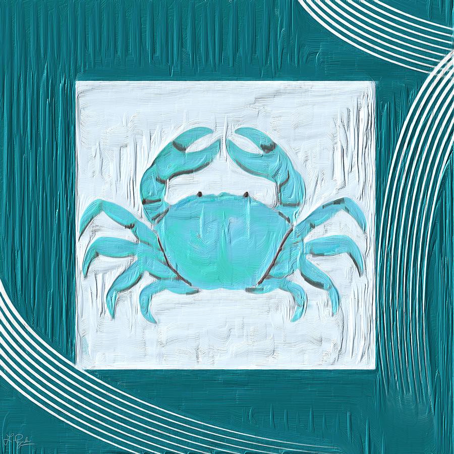 Seashell Painting - Turquoise Seashells Xix by Lourry Legarde