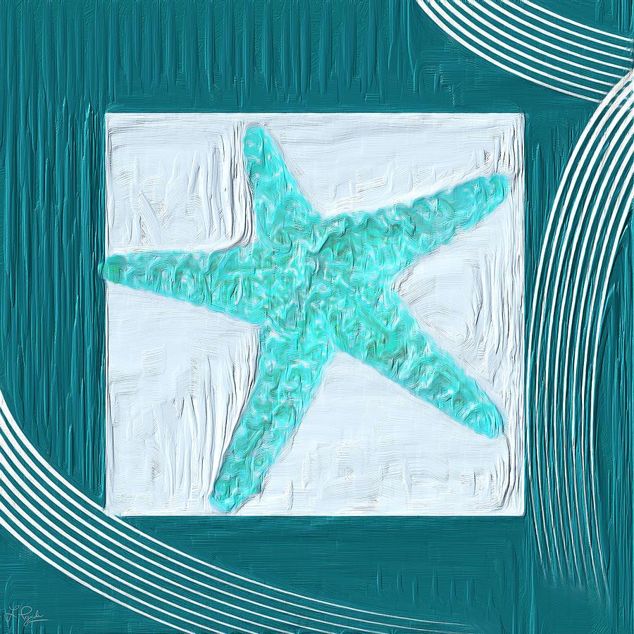Seashell Painting - Turquoise Seashells Xvi by Lourry Legarde
