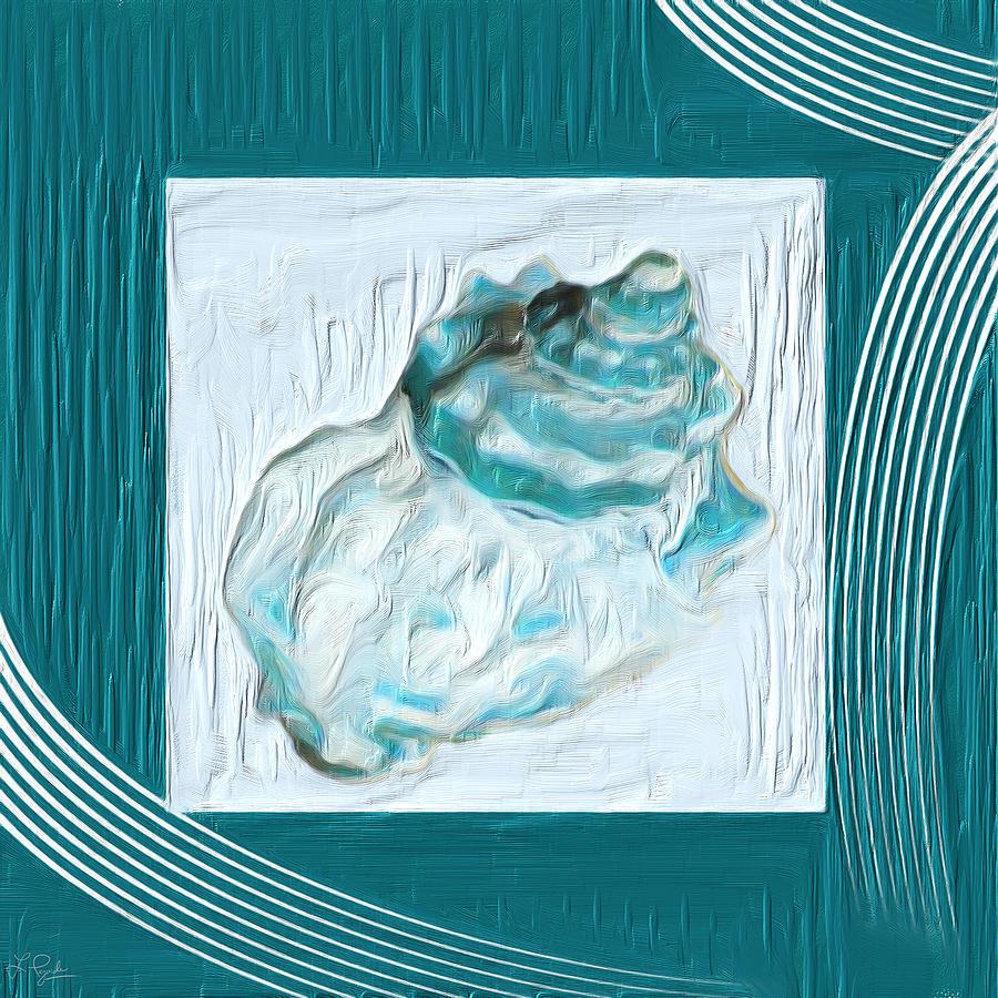 Seashell Painting - Turquoise Seashells Xxiv by Lourry Legarde