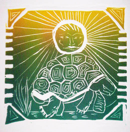 Tortoise Relief - Turtle In The Sun by Sarah Reed
