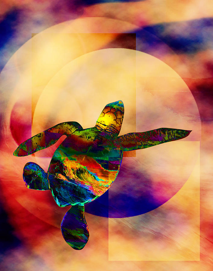 Turtle Digital Art - Turtle Medicine by Bruce Manaka