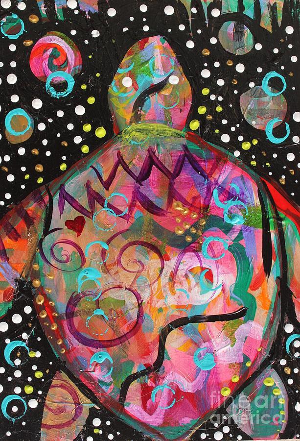 Turtle Painting - Turtle Medicine by Kim Heil