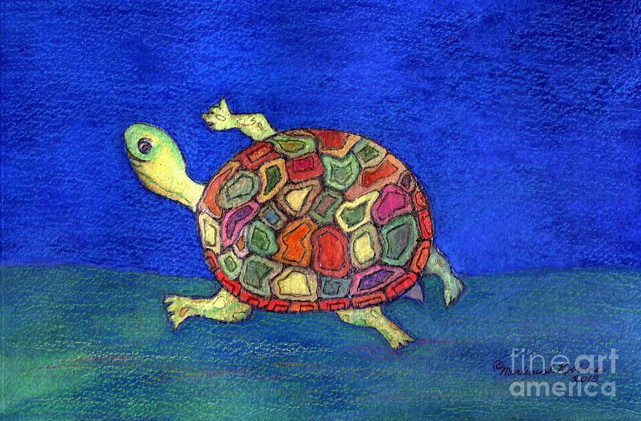 Turtle Painting - Turtle Trot by Marlene Robbins