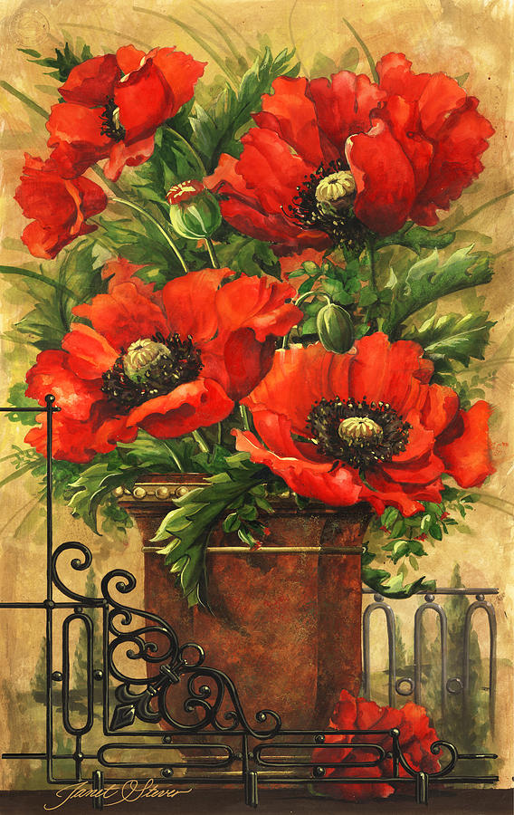 Tuscan Bouquet I Painting By Janet Stever