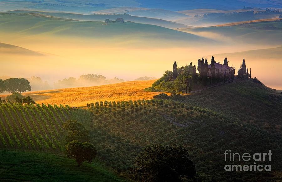 Europe Photograph - Tuscan Dawn by Inge Johnsson