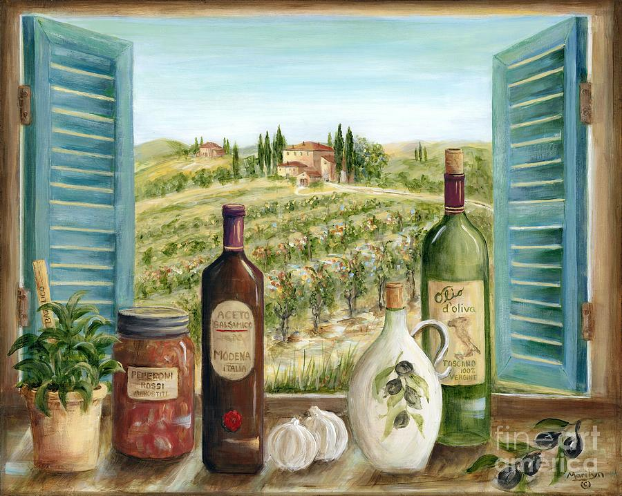 Tuscany Painting - Tuscan Delights by Marilyn Dunlap