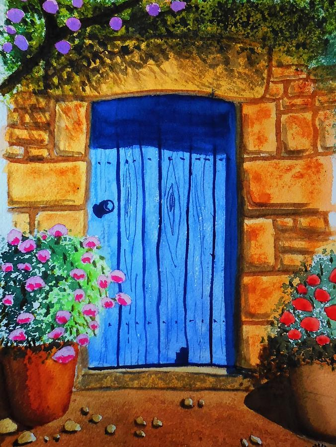 Watercolor Painting - Tuscan Door by Charles Eagle & Tuscan Door Painting by Charles Eagle