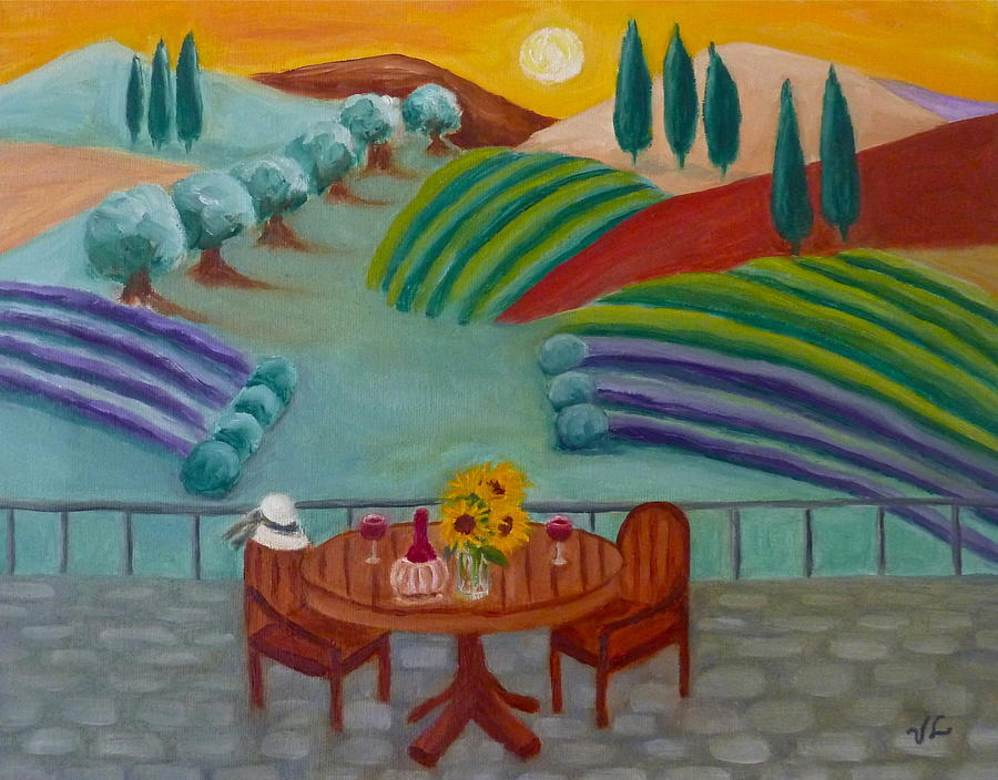 Tuscany Painting - Tuscan Dreams by Victoria Lakes
