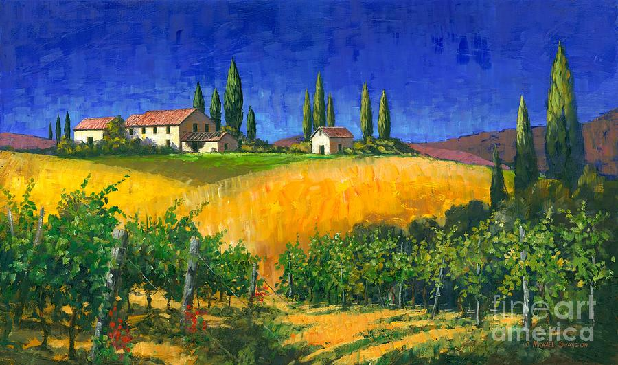 Tuscan Evening Painting By Michael Swanson