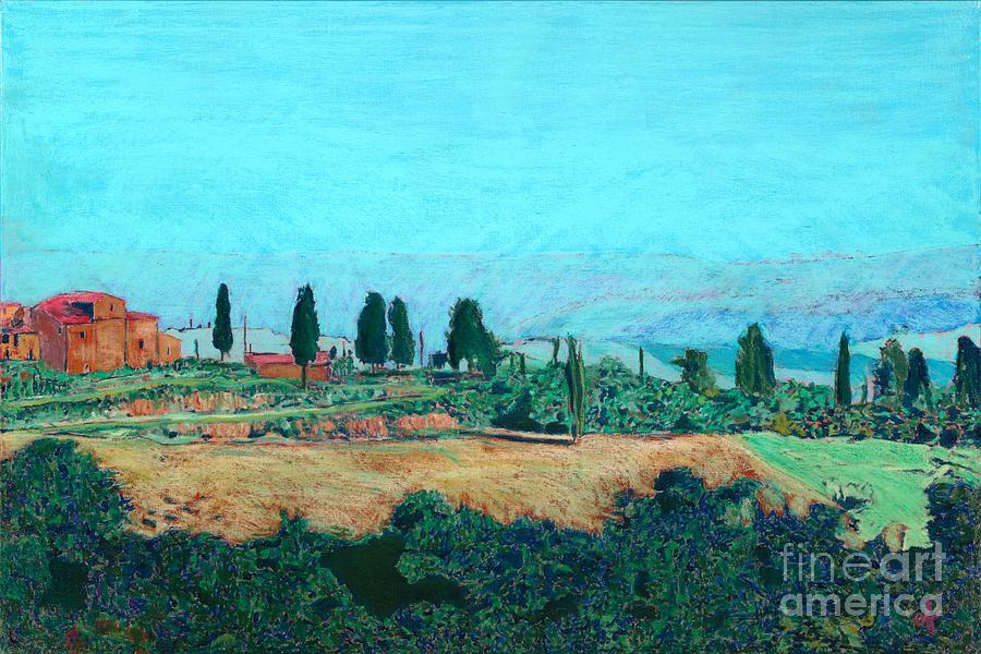 Landscape Painting - Tuscan Farm by Allan P Friedlander