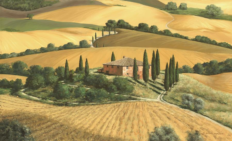 Tuscany Landscape Painting - Tuscan Gold - Sold by Michael Swanson