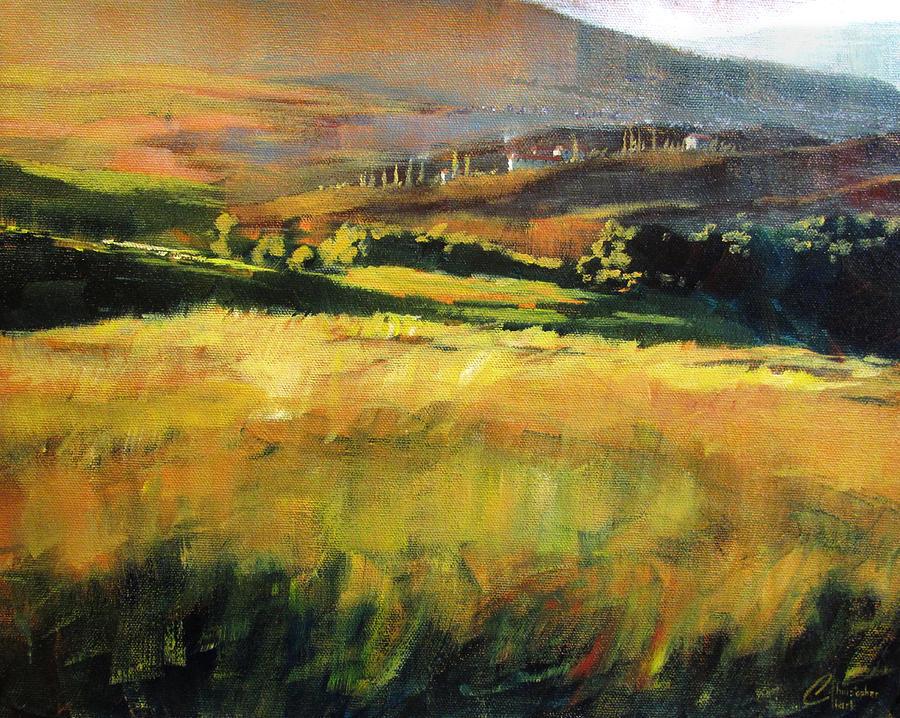 Christopher Clark Painting - Tuscan Hillside by Christopher Clark