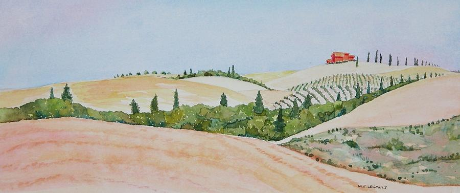 Landscape Painting - Tuscan Hillside One by Mary Ellen Mueller Legault