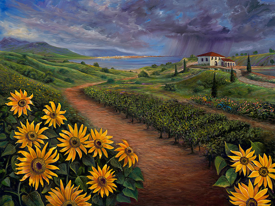 Tuscan Landscape by Claudia Goodell
