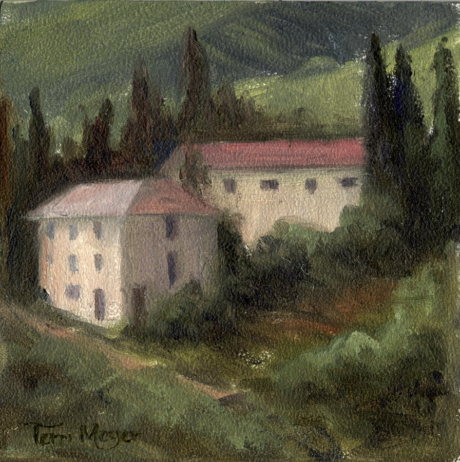 Italian Landscape Painting Painting - Tuscan Landscape II by Terri  Meyer