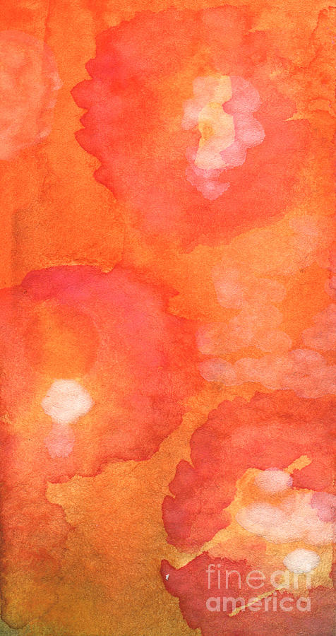 Abstract Flowers Painting - Tuscan Roses by Linda Woods