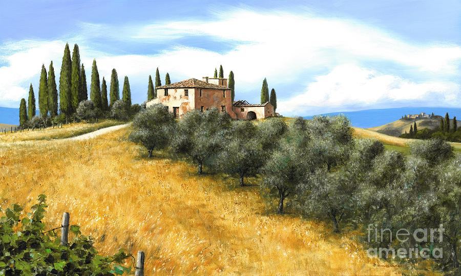 Tuscany Italy Painting - Tuscan Sentinels by Michael Swanson