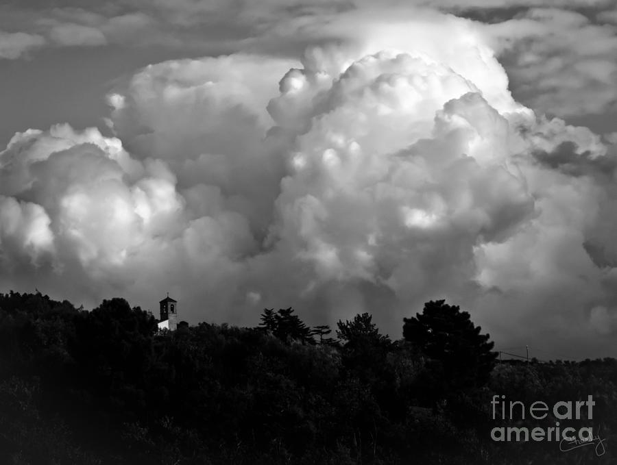 Tuscan Storm Rising from the Valley by Prints of Italy