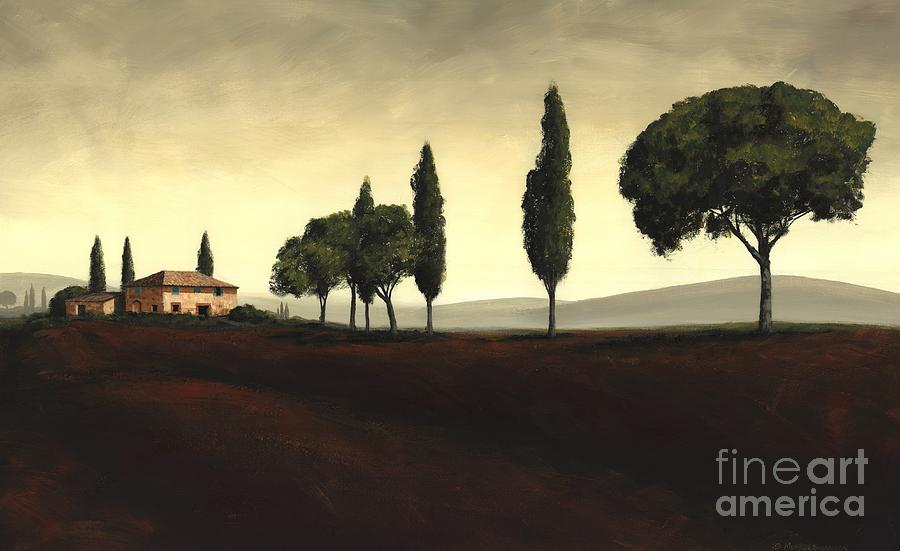 Tuscany Landscape Painting - Tuscan Style  by Michael Swanson
