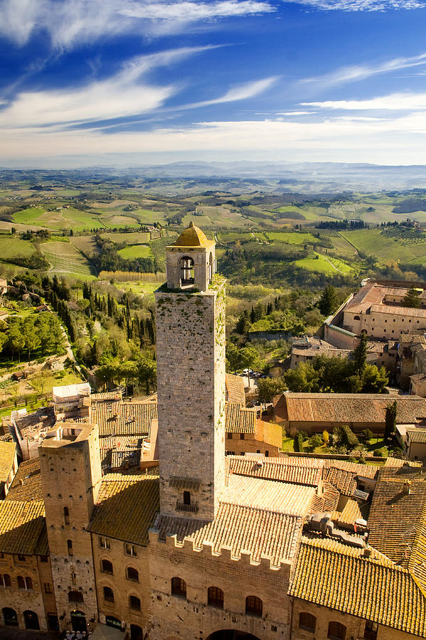 San Gimignano Photograph - Tuscan Tower by Mick House