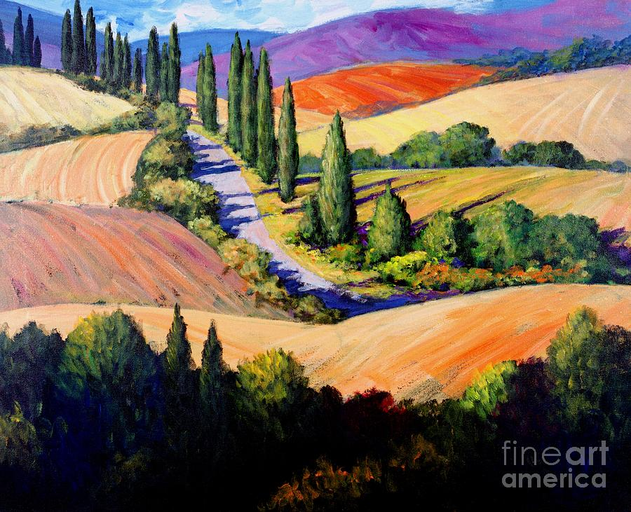 Tuscany Painting - Tuscan Trail by Michael Swanson