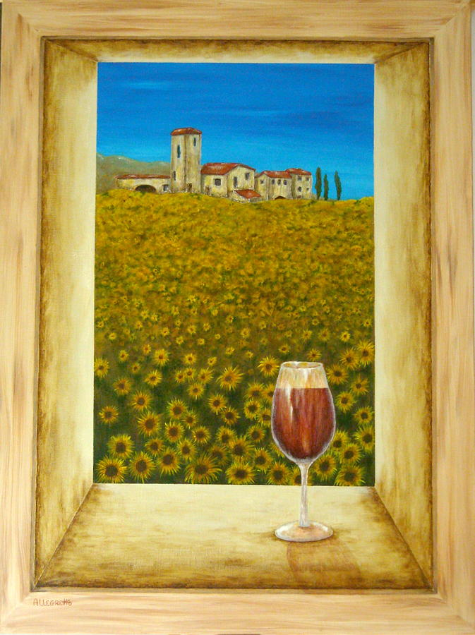 Acrylic Painting - Tuscan View by Pamela Allegretto