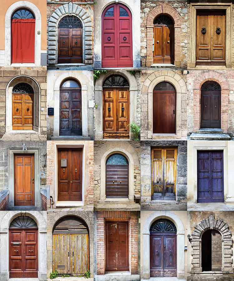 Tuscan Wooden Doors, Italy Photograph by Moreiso