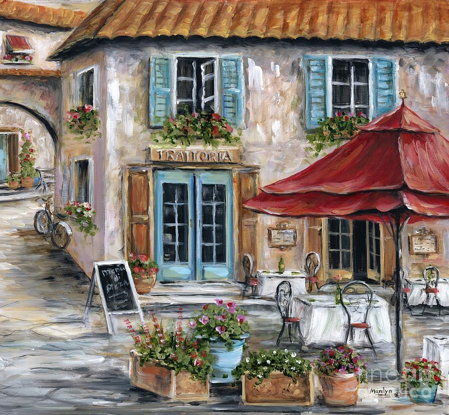 Italian Restaurant Painting - Tuscan Trattoria by Marilyn Dunlap