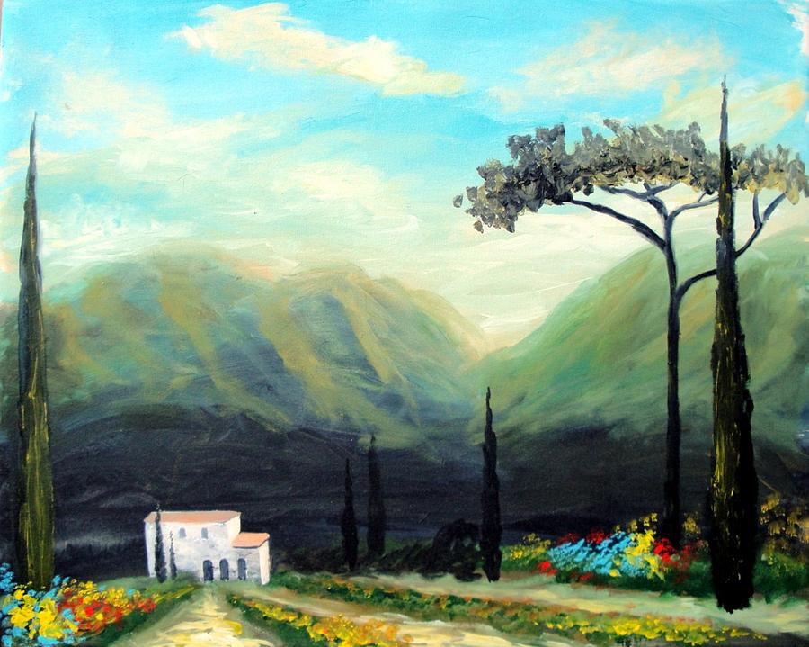 Landscape Paintings Painting - Tuscany Colors by Larry Cirigliano