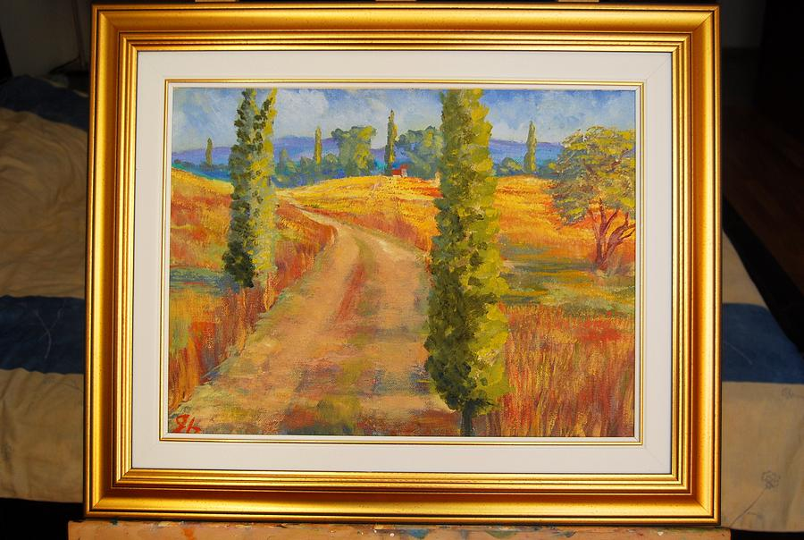 Landscape Painting - Tuscany  by George Budai