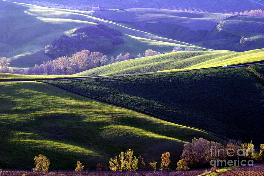 Afternoon Photograph - Tuscany Hills by Arie Arik Chen