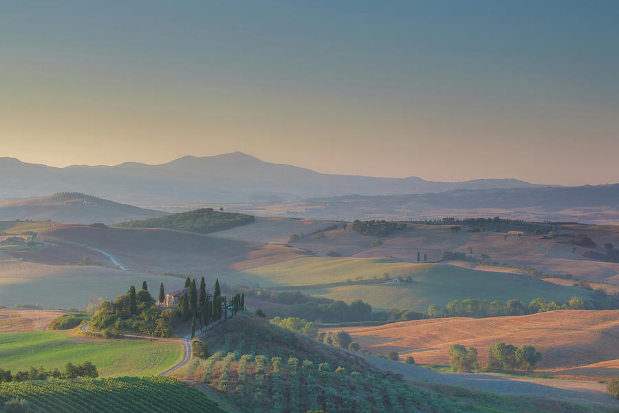 Tuscany In Sunrise Photograph by Tu Xa Ha Noi